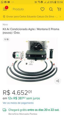 Kit ar condicionado onix/prisma 2014