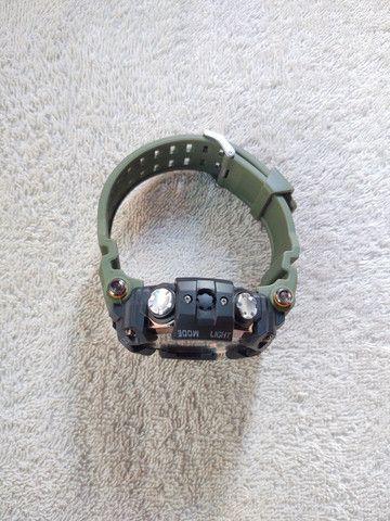 Relógio Smael Sport Militar Verde - Foto 6