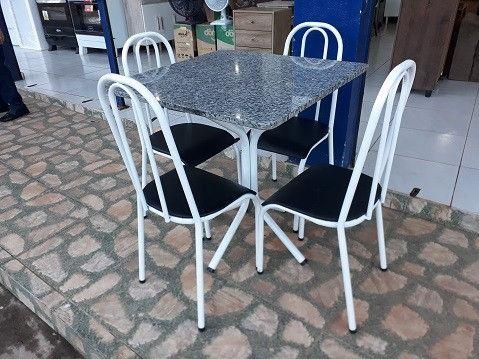 Preço Bom Demais!!Conjunto de Mesa 4 cadeiras Nova Apenas 449,00(Entrego e Monto) - Foto 2