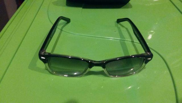 Óculos e lentes azuis - degradê