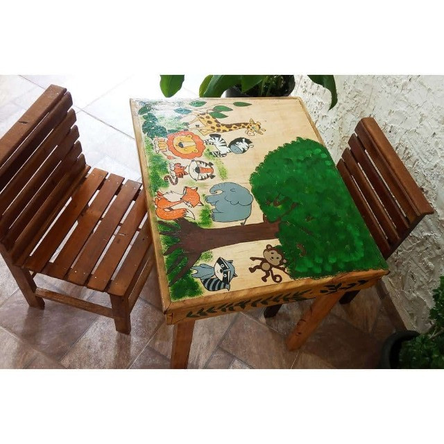 Mesinha infantil de madeira - Foto 3
