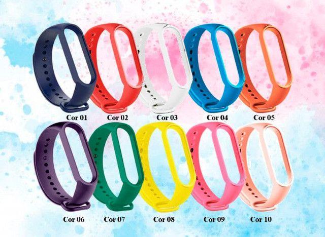 Pulseiras Coloridas para Xiaom Mi Band 4 e 5 - Foto 2