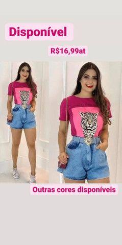 T-shirt algodão 14,99at - Foto 2