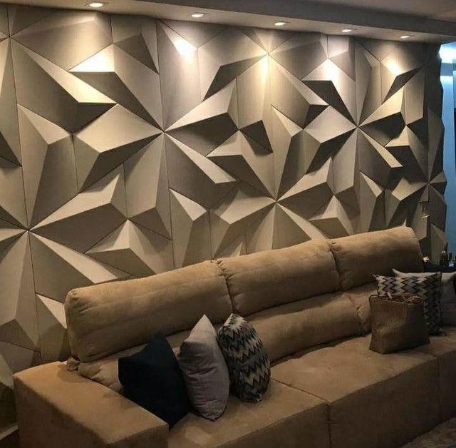 Placas de gesso 3D alto relevo para revestimento de parede