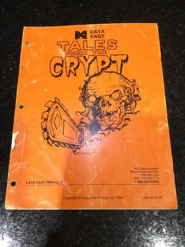 Pinball tales from the crypt manual