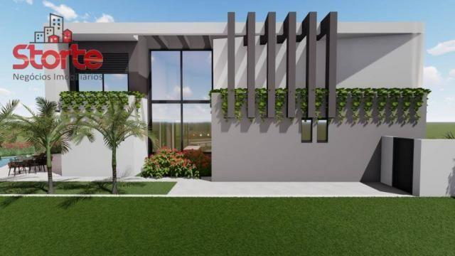 Casa estilo sobrado alto padrão em cond. fechado com 5 suítes à venda, 381m² por R$ 2.500. - Foto 3