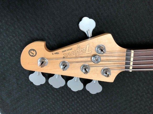 Baixo Tagima TBM5 muito bom. Cordas novas, regulado por luthier e garantia 30 dias. - Foto 6