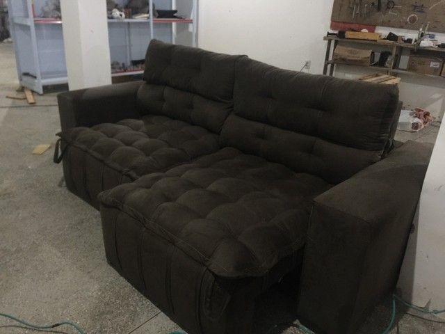 Sofá de luxo Retrátil e reclinável