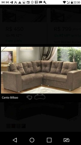 SOFA DE CANTO SOMENTE R$780!! Direto da fabrica - Foto 5