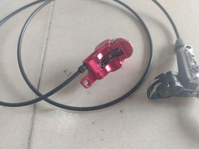 Manete de freio Shimano XT hidráulico - Foto 3