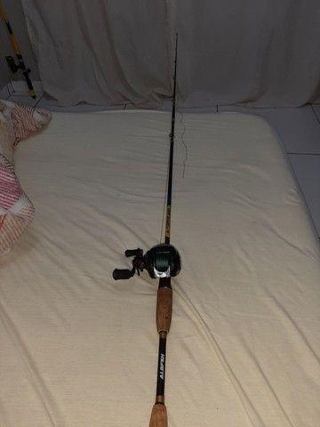 Vara de pesca com caretilha