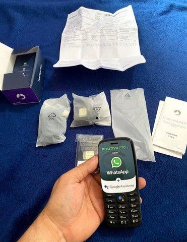 """Celular Positivo P70S 3G KaiOS 2.8"""" - Preto (WhatsApp e Facebook) (Novo com nota fiscal) - Foto 2"""