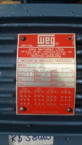 Motor Elétrico Weg 5cv Alta ou Baixa 220/380 - Foto 4