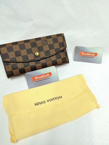 Carteira Louis Vuitton marrom, abertura de botão - Foto 2