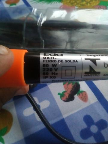 Ferro de Solda Eda Profissional 60w com suporte - Foto 4