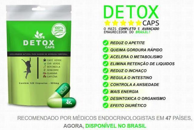 detox caps composição