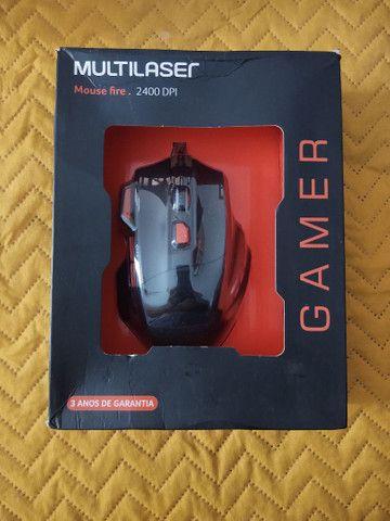 Mouse gamer com leds e DPI 2400