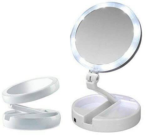 Espelho De Luz De Led Dobrável