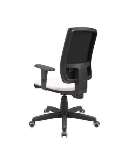 Cadeira Presidente Branca Giratória nova Plax - Foto 2