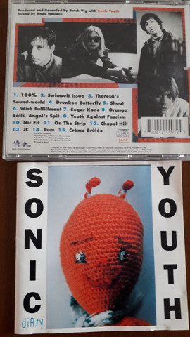 Cds das bandas Pixies, Sonic Youth,Pavement e Grandaddy