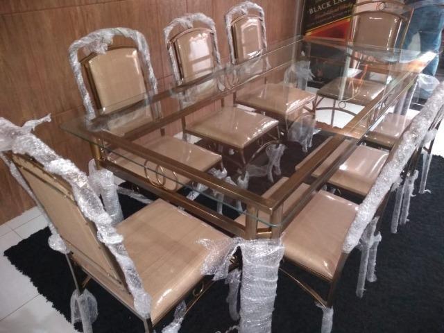 Mesa de jantar com 6 cadeira fabrica facosta moveis somente 10 x 168,00 - Foto 2