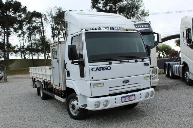 Ford cargo 816 s cabine suplementar e carroceria - Foto 2