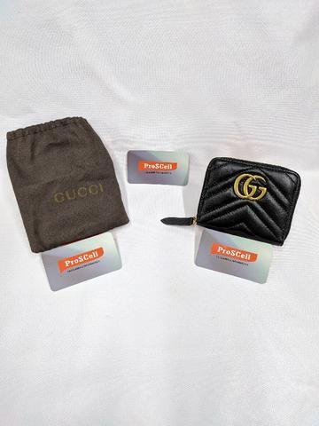 Carteira Gucci Preta - GG Marmont Matelasse wallet - Foto 2
