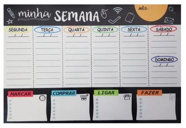 Planejador semanal = Organize-se rapido com este planner sensacional - Foto 3