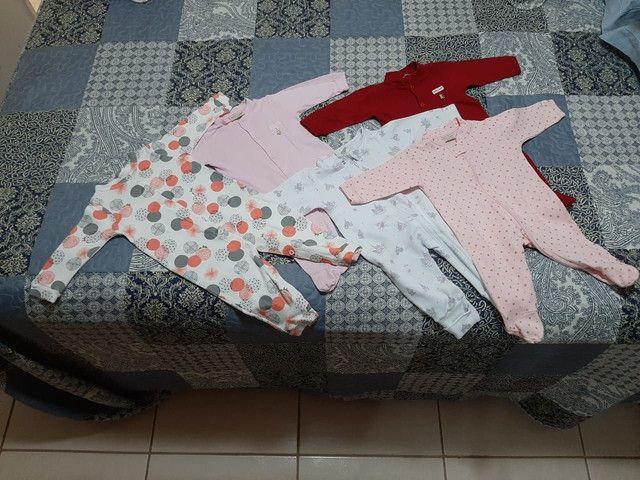 Lote com roupas de bebê menina tamanho P