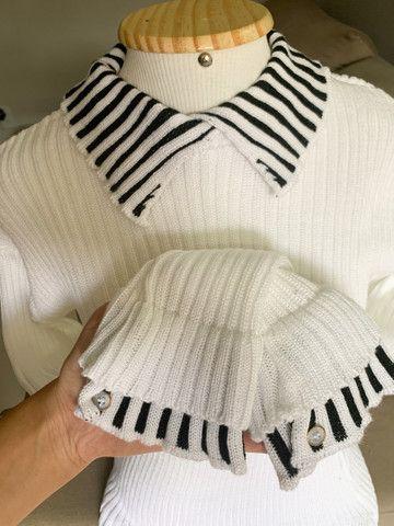 Blusa sobreposição tricot - Foto 3