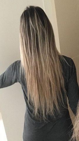 Mega Hair Cabelo Humano Loiro Claro