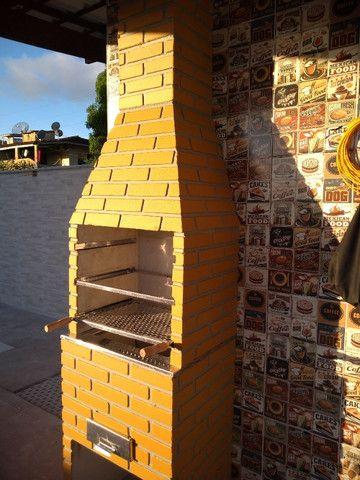 Churrasqueira Tijolinho 4 espetos 63x50 cm