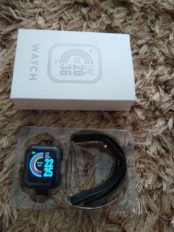 Smartwatch D-20 + pulseira grátis - Foto 3