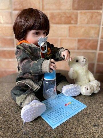 Bebê Reborn Menino Todo em Silicone realista Novo Original (aceito cartão ) - Foto 6