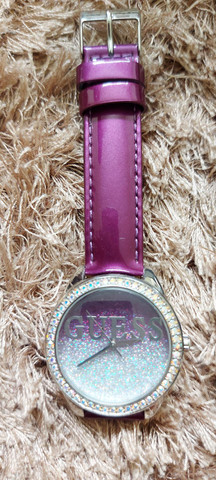 Relógio GUESS GLITTER ORIGINAL Lilás - Foto 3