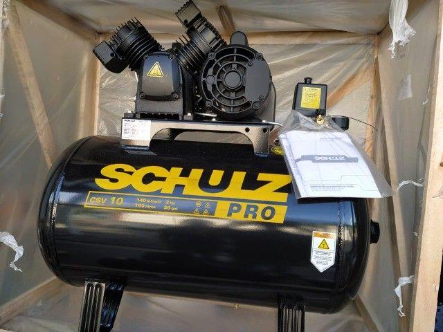 Compressor de Ar 10 Pés 100L 2HP 140PSI Monofásico - Schulz Pro CSV10/100 - Foto 5