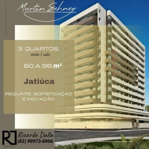 Apartamento 3/4 sendo 1 suíte, na praia de Jatiúca em Maceió AL, área de lazer completa, E