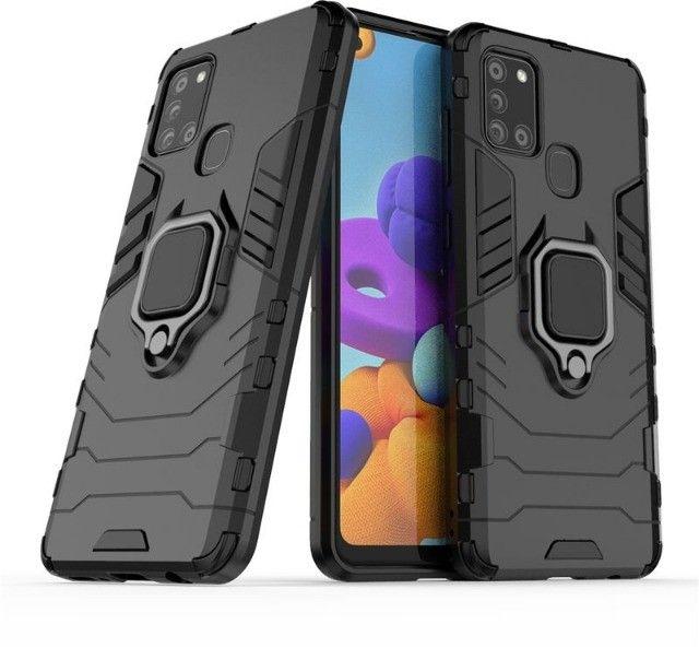 Capa 4 em 1 Anti Impacto Choque Militar Samsung Galaxy A21S, aceito cartão