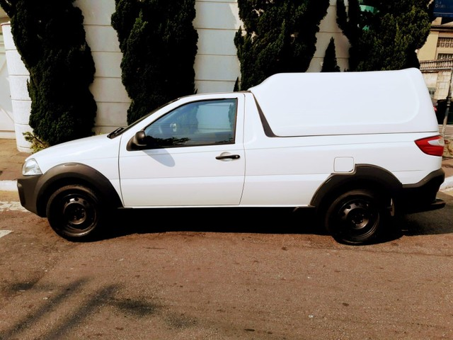 Fiat Strada Hard Working 1.4 Flex Branco Completo Com Bau Doc Ok - Foto 10