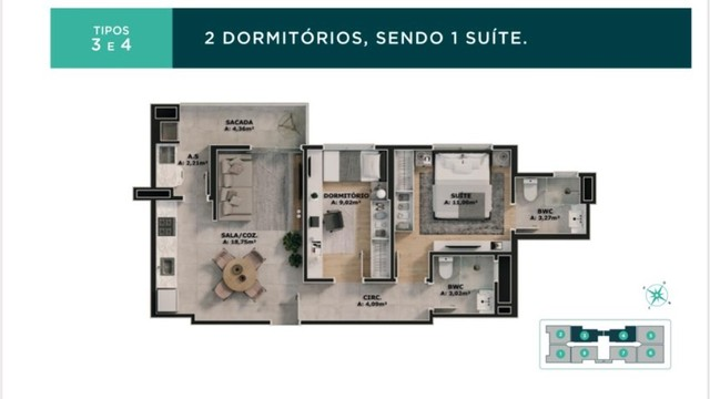 Apartamento Bairro Areias 02 e 03 dormitórios - Vivendas Home Club  - Foto 14