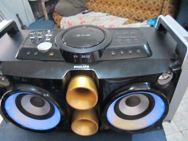 Mini System Philips Party Box usb aux 2 microfone bluetooth - Foto 3
