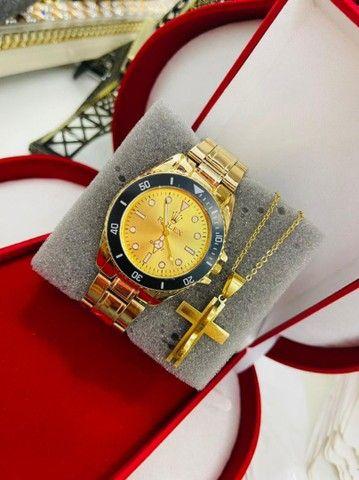 Relógio masculino com acessórios