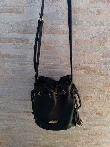 2 bolsas=Bolsa saco+Mochila bolsa WJ original, preto fosco com detalhes em dourado.   - Foto 5