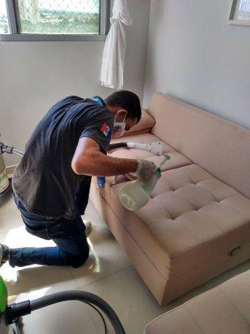 Lavagem a seco. Não deixe a SUJEIRA tomar conta do seu sofá. - Foto 3