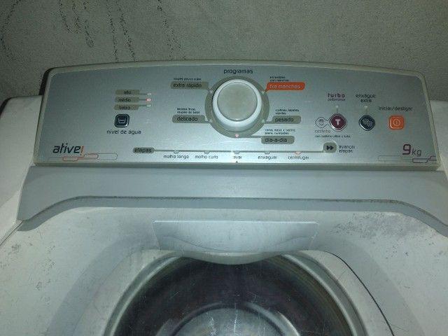 Máquina de lavar ative Brastemp 9kg 350$ - Foto 3