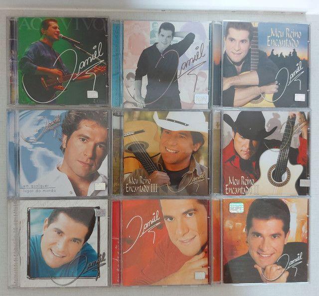 Coleção 13 CDs DANIEL - incluindo CD autografado - PERFEITO ESTADO!!! - Foto 2
