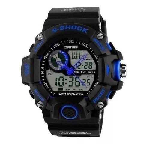 6a83a9602b0 Relógio Digital S-Shock Azul e Preto - Novo!! - Bijouterias ...