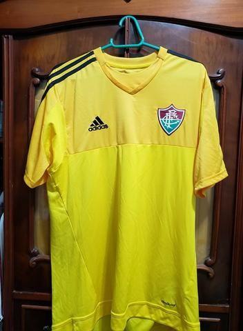 16752e975b820 Camisa Adidas Fluminense Original Amarela Tamanho G. Aceito Cartão