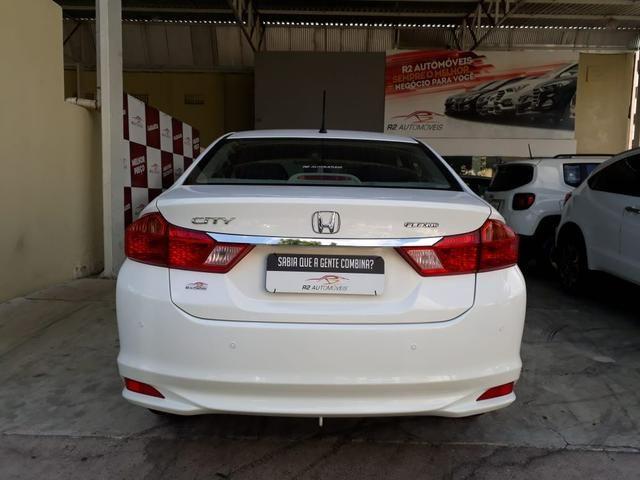Honda 2015 City 1.5 lx cvt Automatico completo branco confira - Foto 4