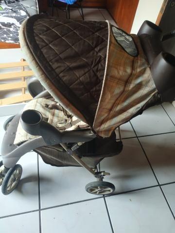 Vendo ou Troco Carrinho Graco + Bebê Conforto + Base do carro - Foto 4